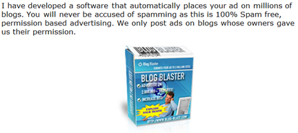 Blog Blaster Scam Screenshot
