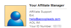 Azoogle No Affiliate Manager