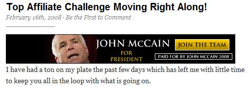John McCain Banner Ad