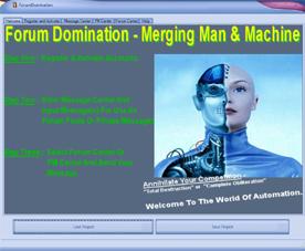 Web Traffic Machines Forum Dominator Welcome Screen