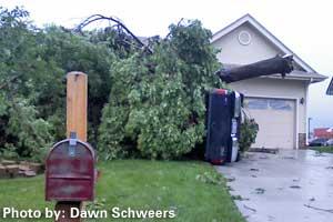 Omaha EF-2 Tornado Damage