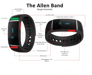 Initial Allen Band drawing for factories to determine prototype costs