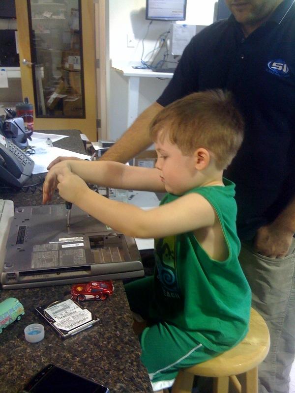 Jacob Schrock Strips Laptop